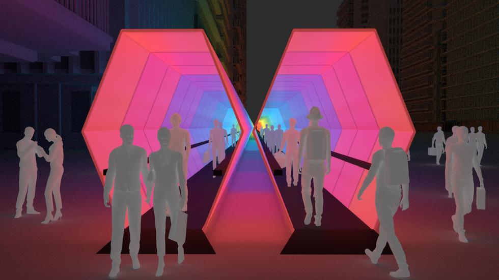 Hexagonal LED Tube 2