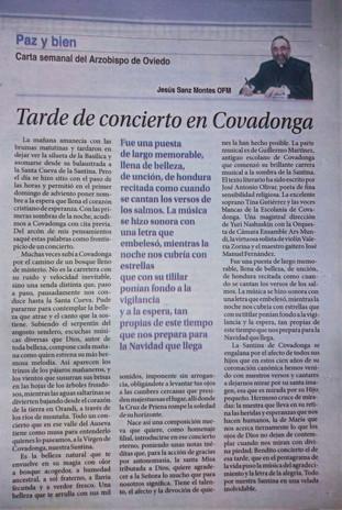 MISA EN HONOR A LA VIRGEN DE COVADONGA