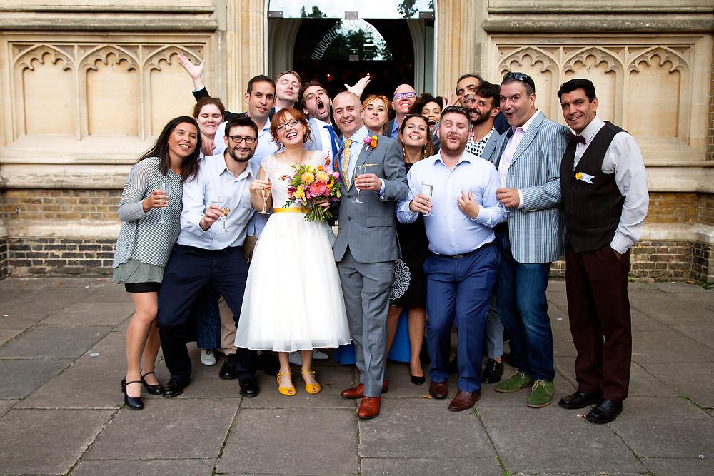 Artman English Students Guest Group Photo at Oli and Paloma's Wedding