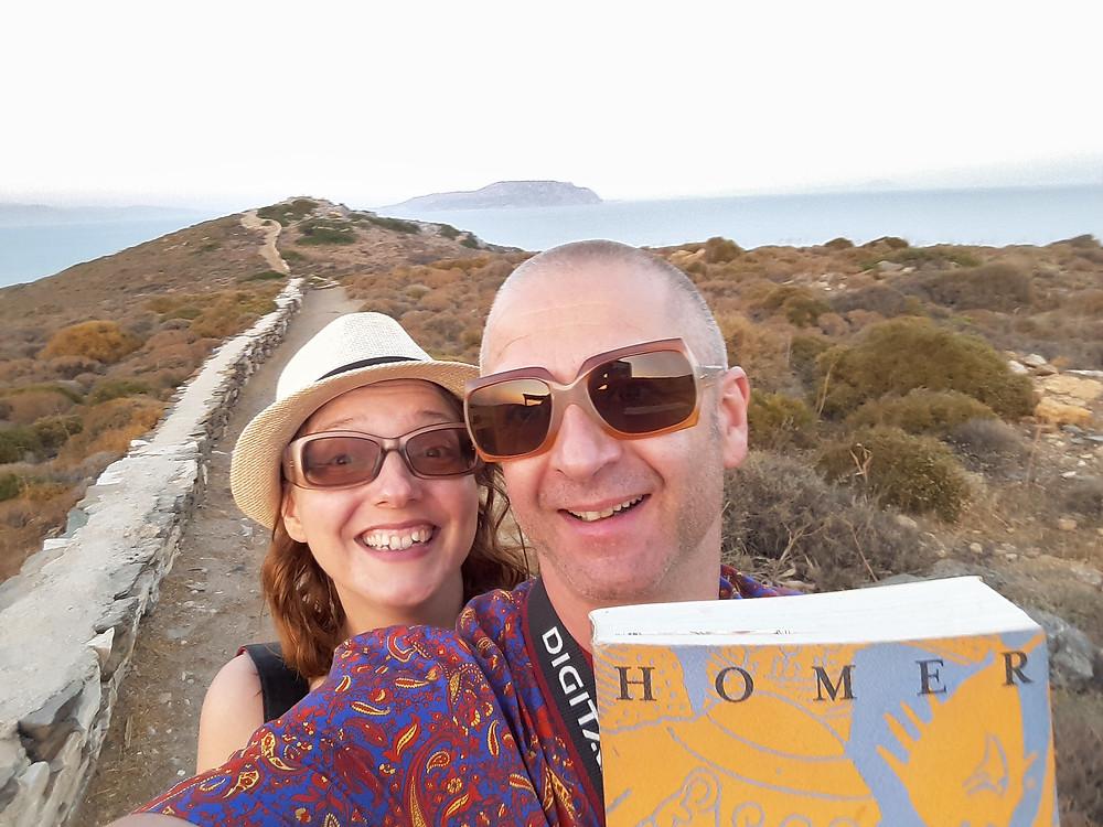 Mr & Mrs Artman English (aka as Oli & Paloma) on their way to visit Homer's tomb at Greek Island Ios
