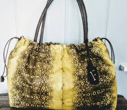 FURLA Leather Python Tote