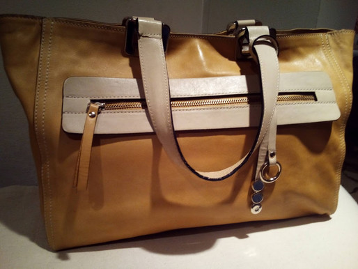 Asia Bellucci Vintage Leather Satchel Tote