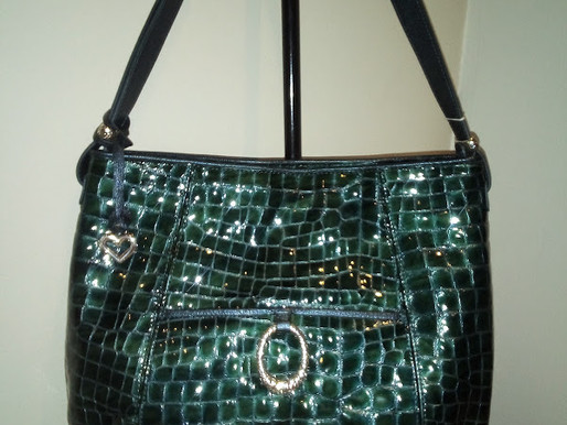 Brighton Embossed Patent Leather Shoulder Bag ~ New
