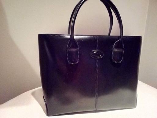 Tod's D-Bag Black Leather Purse