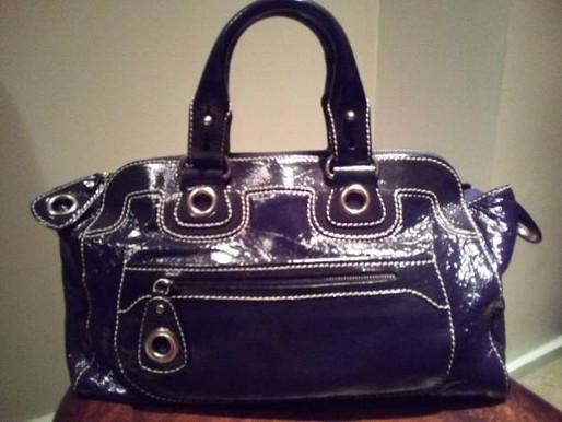 Andrea Mabiani Black Patent Leather Purse