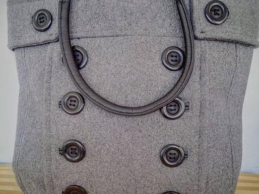 Gray Wool Fashion Tote