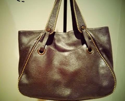 Plinio Visona Leather Shoulder Purse