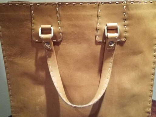 Tramontano Napoli Italian Leather Vintage Tote