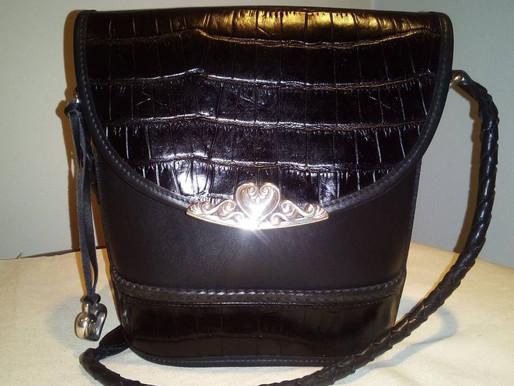 Brighton Vintage Black Bucket Purse