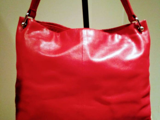 Bree Red Leather Tote Purse