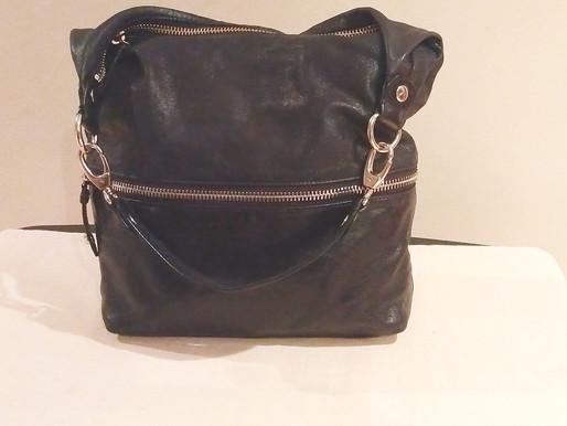 Hobo Original Vintage Black Leather 'The Jude'