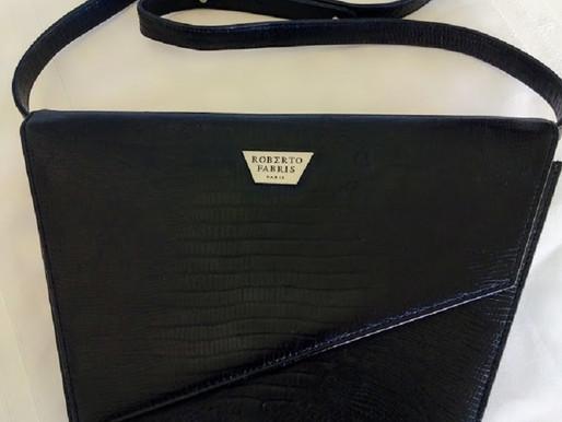 Roberto Fabris Vintage Black Leather Purse