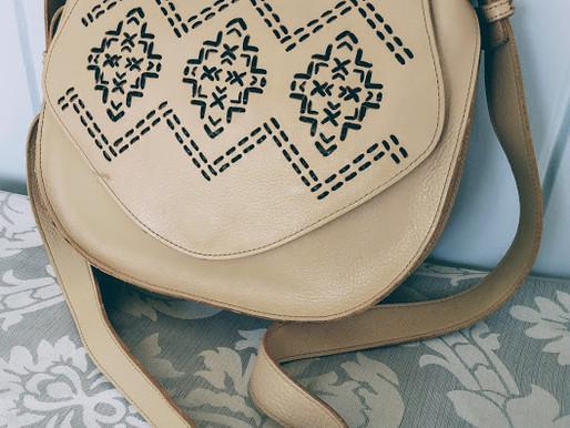 Isabella Fiore Boho Leather Crossbody Purse