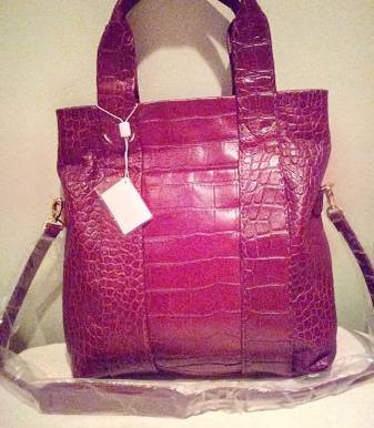Tusk New York Embossed Leather Tote ~ New
