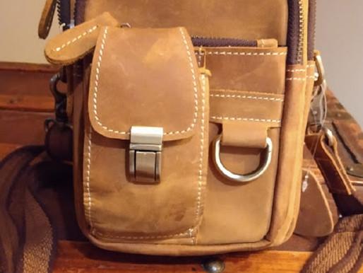 Polare Original Men's Leather Crossbody ~ New