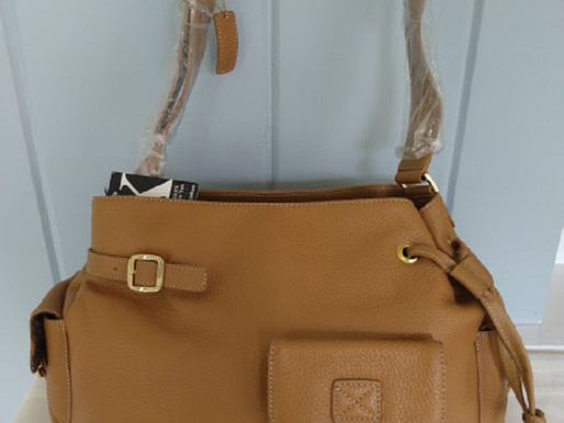 Maxx NY Brown Pebbled Leather Shoulder Bag ~ New