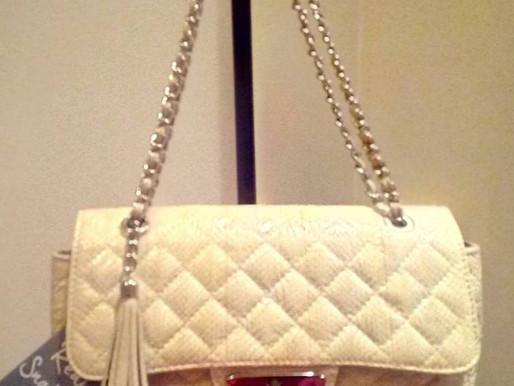P.U.R.E. Quilted Snake Skin Shoulder Bag ~ New
