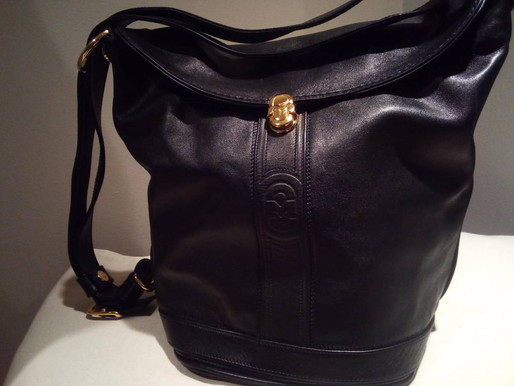 Marino Orlandi Black Leather Sling Purse