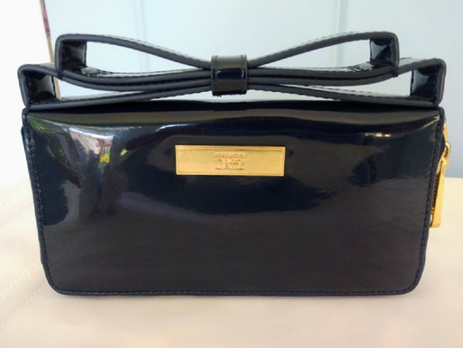 Zac Posen Bow Handle Patent Leather Wallet
