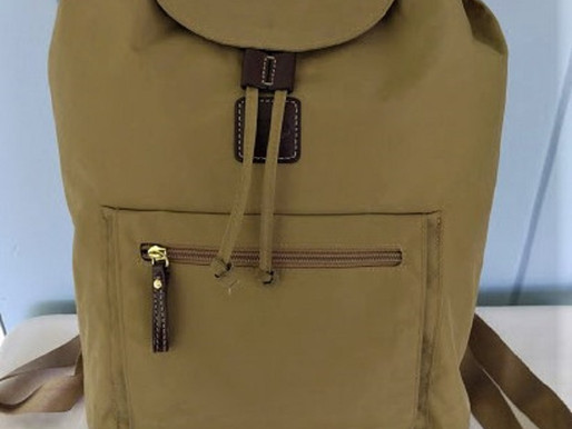 Bric's Milano Cinch Taupe Nylon Backpack