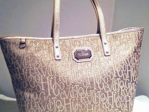 Victor Hugo Leathergoods Gold Tote Bag