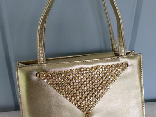 Stuart Weitzman Gold Evening Bag ~ New