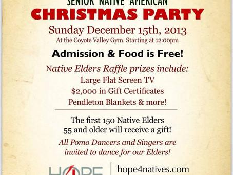 Hope4Natives 2013 Elders Christmas Party