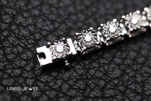 鑽石星型批花手鍊