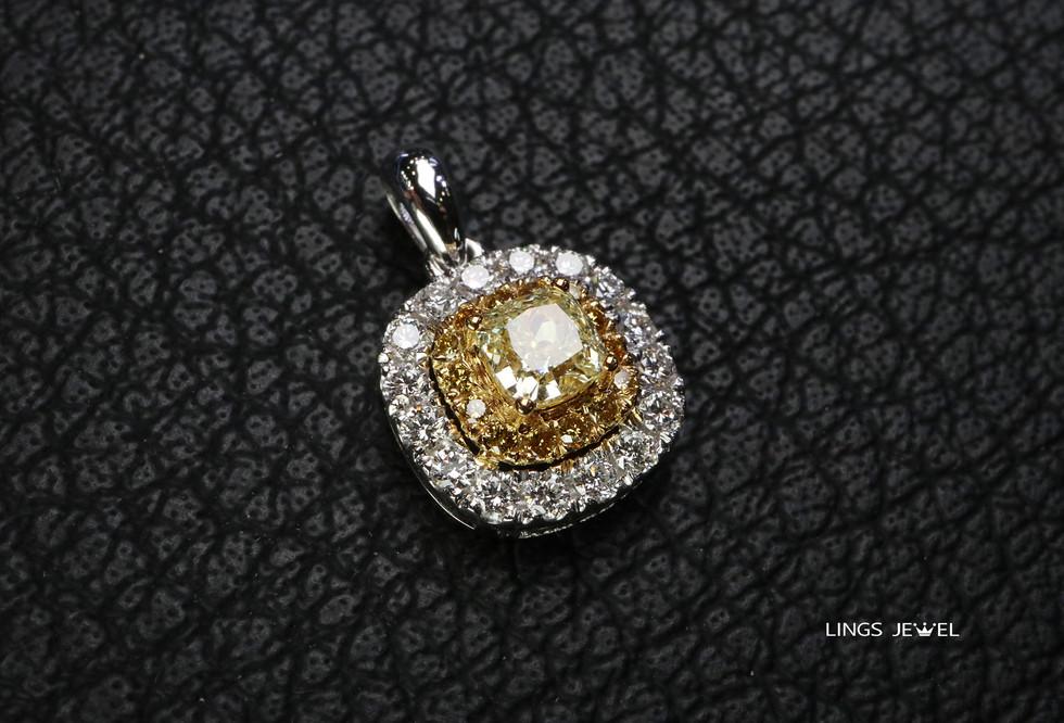 cushion 0.38 yellow diamond pendant 0921 2.jpg