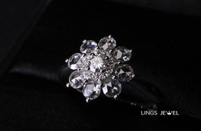 Flower shape Diamond ring 1020.jpg