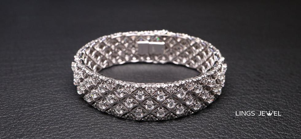 Star shape 5 carat Diamond Bracelet 5.jp