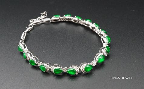 Pear shape rare Emperor jade bracelet.jp
