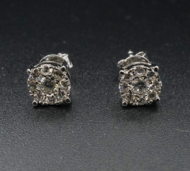 Diamond Ear Ring 18 F VG x1 top front.jp