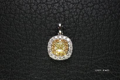 cushion 0.38 yellow diamond pendant 0921.jpg