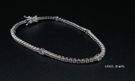 Lings Jewel Diamond station 18K Bracelet