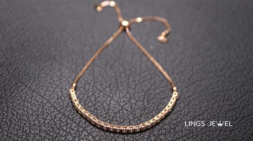 Rose 18K flexible lenght  diamond Bracel