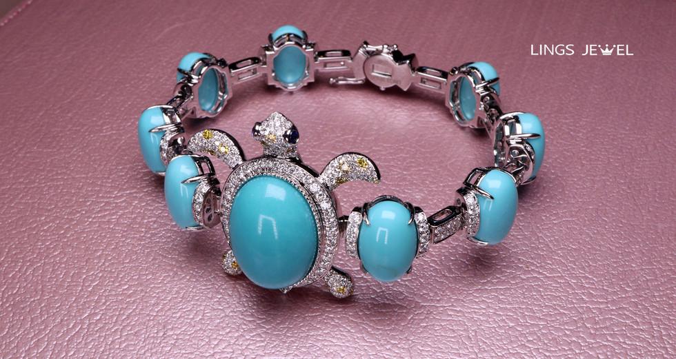 Tortoise Turquoise Bracelet 3.jpg