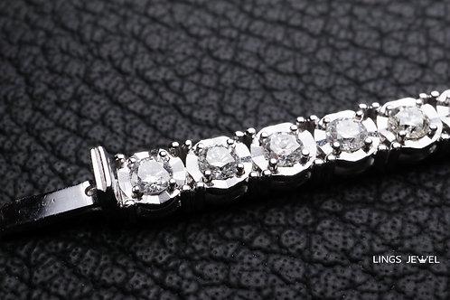 3.2 carat 閃亮批花鑽石手鍊