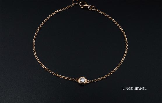 Lings Jewel one Diamond 18K Bracelet 2.j