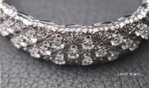 Star shape 5 carat Diamond Bracelet main