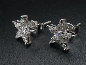 Star Shapr Diamond Ear Ring  x1pair top