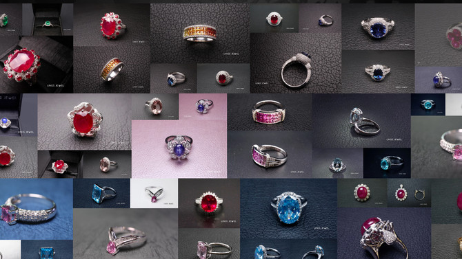 珠寶色調也可帶出聖誕氣氛