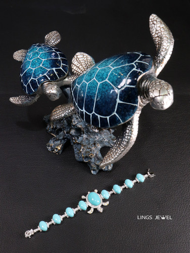 Tortoise Turquoise Bracelet 4.jpg