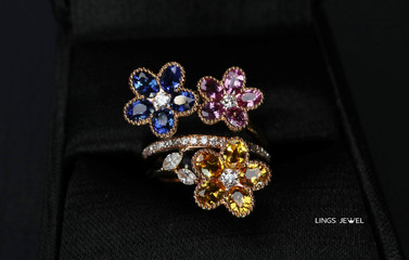 three color flower shape ring.jpg