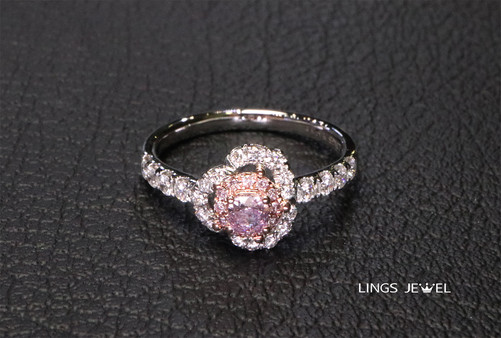 Flower shape Purple Pink Diamond ring.jp