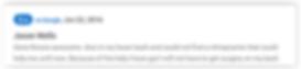 Google Review of Dr. Gene Ross