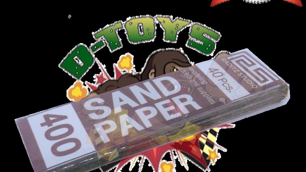 DRY PAPER #400 (กระดาษทรายขัดแห้ง ทรายขาว) 1 แพ๊ค