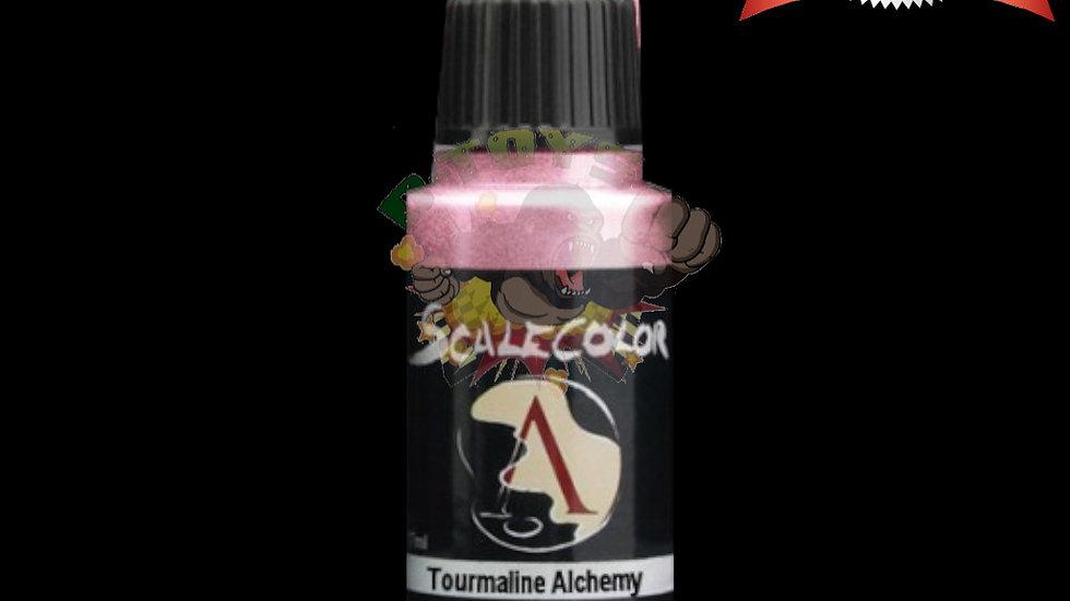 สีสูตรน้ำผสมเม็ดโลหะ สีโมเดล รถเหล็ก กันดั้ม  Scale 75 Tourmaline Alchemy 17 ml