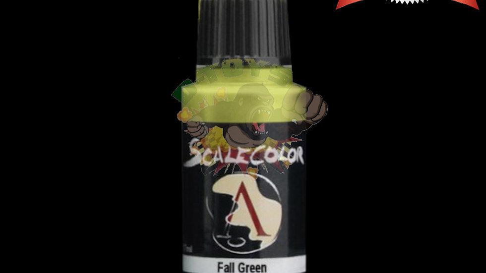 สีสูตรน้ำ สีโมเดล รถเหล็ก กันดั้ม  Scale 75 Fall Green 17 ml
