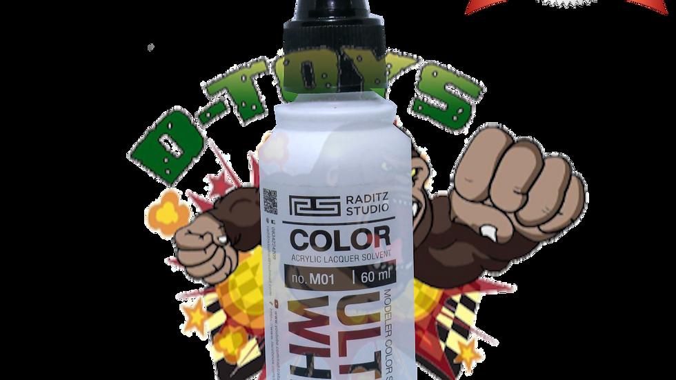 สีโมเดล Ultra White Semi Gloss  ขนาด 60 ml สำหรับ Airbrush
